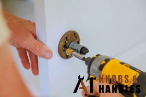 electric-drill-door-knob-installation-a1-knobs-&-handles-singapore